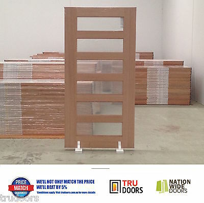 6 Lite French Solid Timber Doors Hardwood 1020mm 1200mm Entry Entrance Pivot
