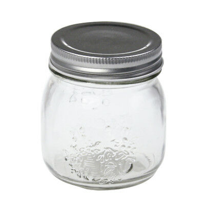 24PK x 300ml SILVER LID Small Glass Jars Conserve Jam Food Favours Jar