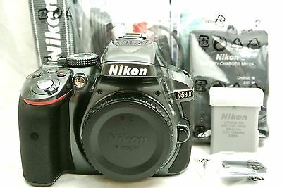 Nikon D5300 24.2MP digital SLR camera body set *smokey grey *mint
