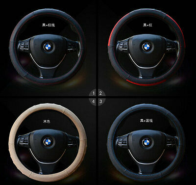 38cm Universal Auto Car Leather Wheel Steering Cover For Honda Audi BMW Toyota