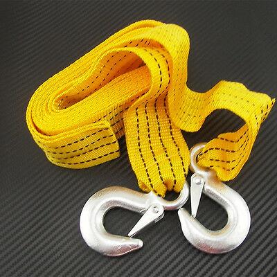 Car 4x4 Offroad Pickup Tow Towing Pull Rope Strap &Hook Heavy Duty Road Recovery