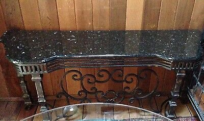 Beautiful Marble Top table w/wrought iron base Console Table