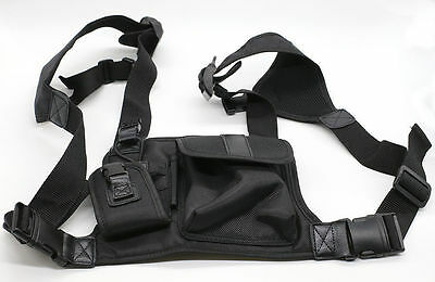 Camping Sport Hands Free Chest Bag Harness for Motorola KENWOOD Midland radio