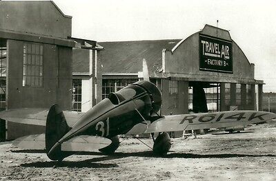 "Mystery Travel Air Racing - 5"" X 7"" Black & White Airplane Photograph"