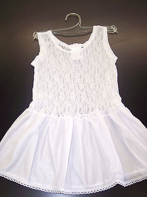 Girls JC Collection White Nylon Stretch Lace Slip Sizes 2T - 16