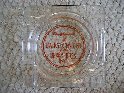 Vintage Dairy Center of the Berkshires Ashtray Pittsfield, MA FREE SHIPPING!