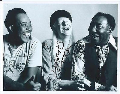 James Cotton Signed Autographed 8x10 Photo Blues W/ Johnny Winter Muddy Waters