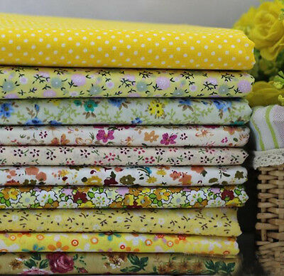 One PCS Cotton Fabric Pre-Cut Cotton cloth Fabric for Sewing Yellow D9992