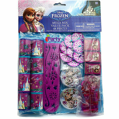 New 48pcs Frozen Favours Bulk Kit Girls Birthday Party Supplies Pack Loot Bags