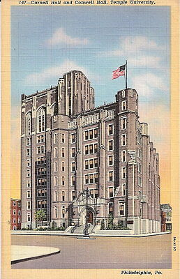 A108 Carnell and Conwell, Temple Univ, Philadelphia, Pa Linen (1930-45) unposted