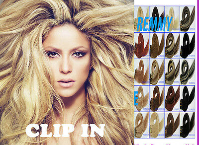 Clip in Extensions  Deluxe & Standard 10 Teile &7 Teile 100% Echthaar Extensions