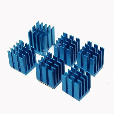 12pcs 9mm x 9mm  x 12mm blue Aluminum Heat Sink adhesive Tape For Memory Chip IC