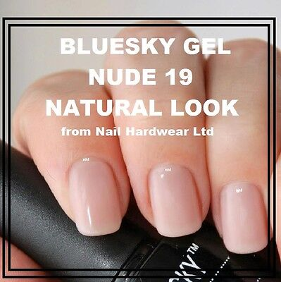 Bluesky Nd19 Nude 19 Uv Led Soak Off Gel Classic Natural French Manicure Free P+
