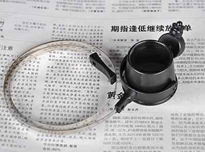 One Eye Clock Watch Repair Jeweler Head Glasses Magnifier Loupe 15X with LED Mo
