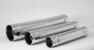Stainless Steel Telescopic Chimney Flue Liner Ducting Rigid Pipe Tube All Sizes
