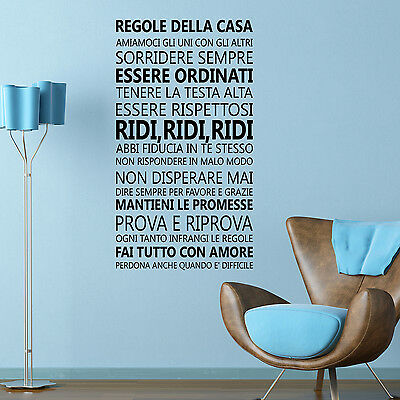 Bedroom Italian Family Decal Decoration Quote Home Wall Stickers 60cm x 110cm