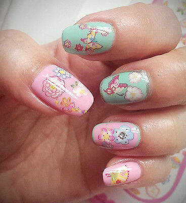 Colourful Flowers Butterflies Water Transfers Nail Art Stickers