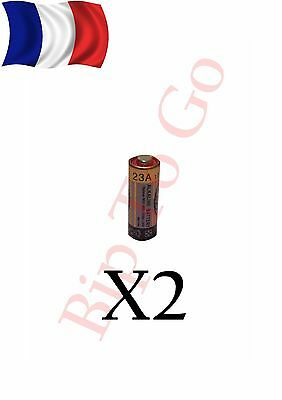 lot X2 piles batterie 23A A23 LRV08 L1028 RVO8 23A MS21 MN21 E23A K23A France