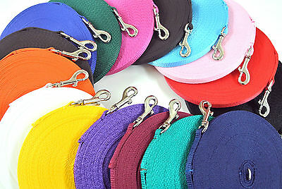 10ft/3m Dog Training Lead Puppy Obedience Leash 13mm Strong Durable 19 Colours