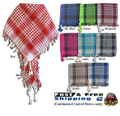 Arab Shemagh Keffiyeh Fashion Unisex Tactical Palestine Light Cotton Scarf Wrap