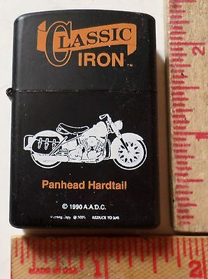 Vintage Harley Panhead-Hardtail lighter collectible old motorcycle memorabilia