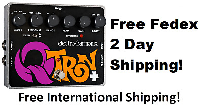 New Electro-Harmonix EHX Q-Tron Plus Envelope Filter Guitar Pedal! QTron +