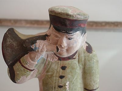 Very Old Japanese Soldier With Bugle Rare Museum Doll U.S Seller Collectible