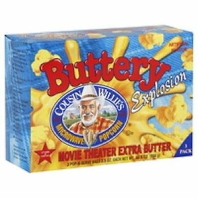 Cousin Willie's Buttery Explosion Microwave Popcorn