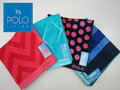 POLO 100% Cotton Velour Beach towel, Extra Large size - 4 designs available