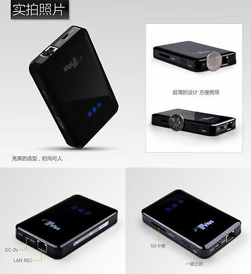 Mele S3 Mobile Network Storage+2600mA Back Up Power+WiFi Adapter Wireless AP