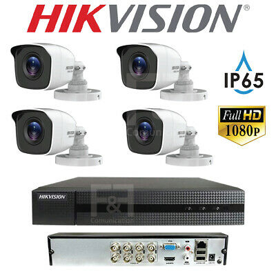 Kit Videosorveglianza Hikvision Full Hd Dvr Xvr 4 Telecamere Bullet Ip65 2.8Mm