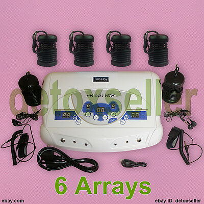 Sale Dual User Ionic Foot Bath Spa Detox Cell Cleanse Machine MP3 + 6 Arrays CE