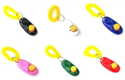 Dog Puppy Pet Clicker Keyring Teaching Tool Obedience Training Keyring Wrist NEW