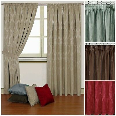 Orion thermal Dim Out heavy curtains, Cream Chocolate Red Duck Egg - REDUCED
