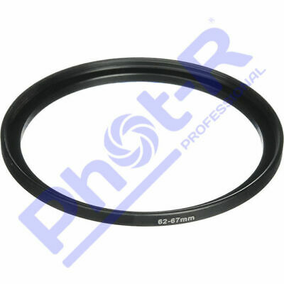 Phot-R 62-67mm Metal Stepping Step-Up Ring Camera Filter Lens Adapter DSLR SLR