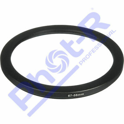 Phot-R 67-58mm Metal Stepping Step-Down Ring Camera Filter Lens Adapter DSLR SLR