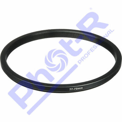 Phot-R 77mm-72mm 77-72mm Metal Step-Down Ring 77mm to 72mm Lens Filter Adapter