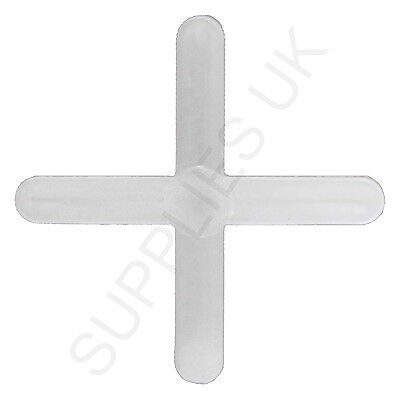 Tile Spacers, Floor, Wall, Tiling, Grouting,Plastic,Cross,Reusable,1.5mm,2mm,3mm