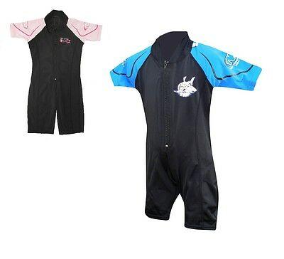 CHILDS BOYS GIRLS TWF SHORTY SUNSUIT UV PROTECTION SPF50+ AGES 1-2 and 2-4