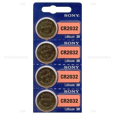 4 NEW SONY CR2032 3V Lithium Coin Battery Expire 2027 FRESHLY NEW - USA Seller