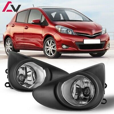 12-14 For Toyota Yaris Clear Lens Pair OE Fog Light Lamp+Wiring+Switch Kit DOT