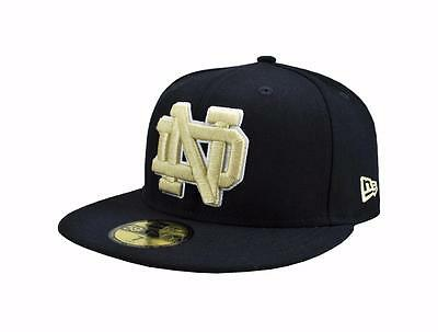 new products 3aa90 d3ee2 New Era 59Fifty NCAA Cap Notre Dame Fighting Irish Navy Blue Fitted Hat