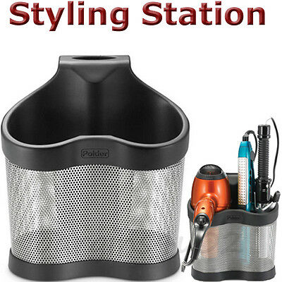 Styling Station Polder Hair Straightener Hair Dryer Holder Caddy Storage