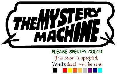"""The Mystery Machine Funny Vinyl Decal Sticker Car Window laptop tablet truck 12"""""""
