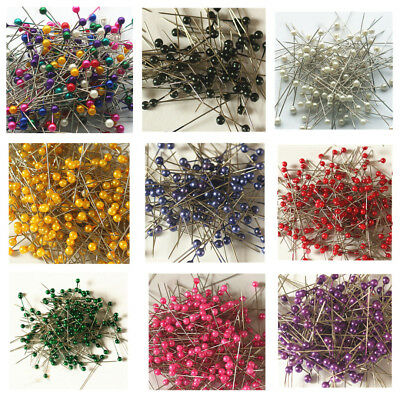 800PCS Pearl Head Dressmaking Craft Sewing Pins Weddings Corsage Florists Pin
