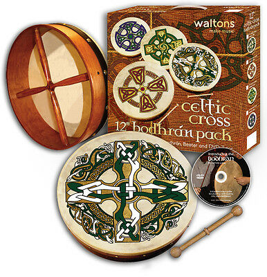 Irish 12 Inch Celtic Bodhran Pack - Various Designs