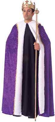 King's Robe Medieval Fancy Dress Up Halloween Adult Costume Accessory 2 COLORS