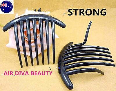 2X Women French Twist Magic DIY Styling Evening Party Black Hair comb Clip Claw