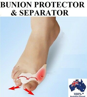GEL Silicone Bunion Protector Toe Separator Straightener Alignment Pain Relief