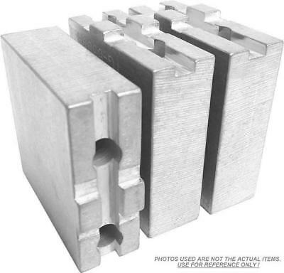 """TG-18502F STEEL SOFT JAWS FOR TONGUE /& GROOVE 18/"""" CHUCK WITH A 5/"""" HT 3/"""" PC SET"""